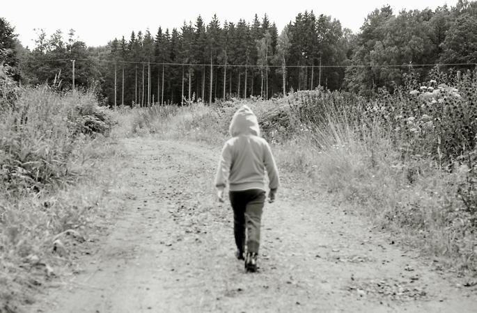 Ensam på väg
