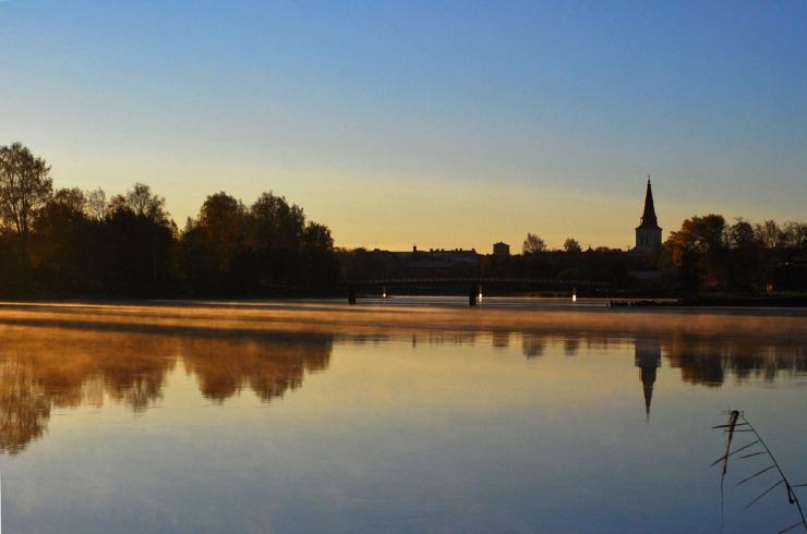 Morgon över Karlstad