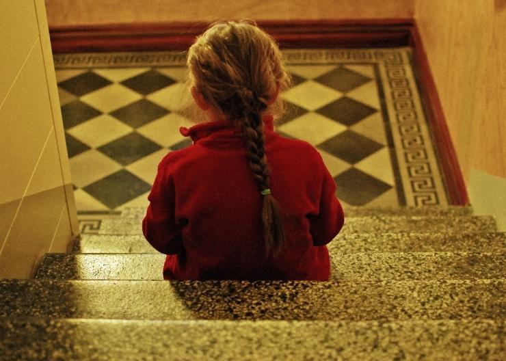 Flickan i trappan