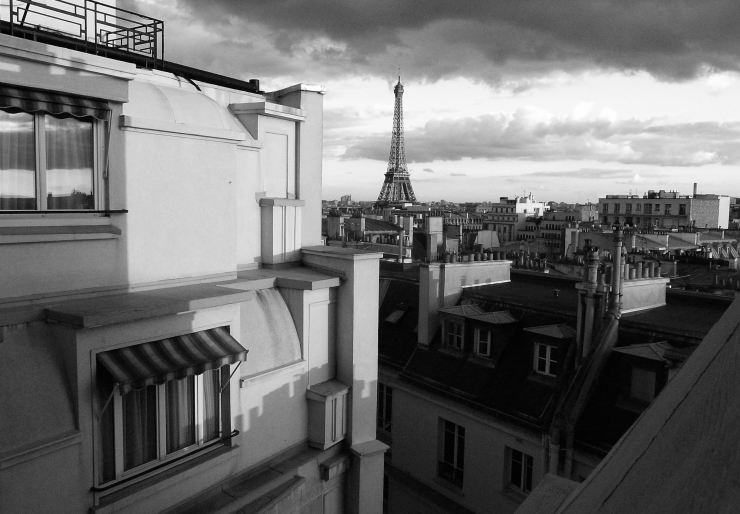 Over the rooftops in Paris