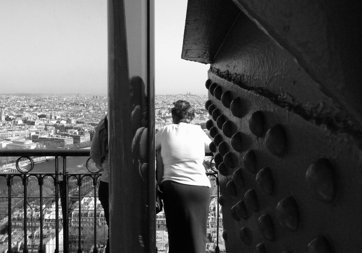 Behind the Eiffel visitor