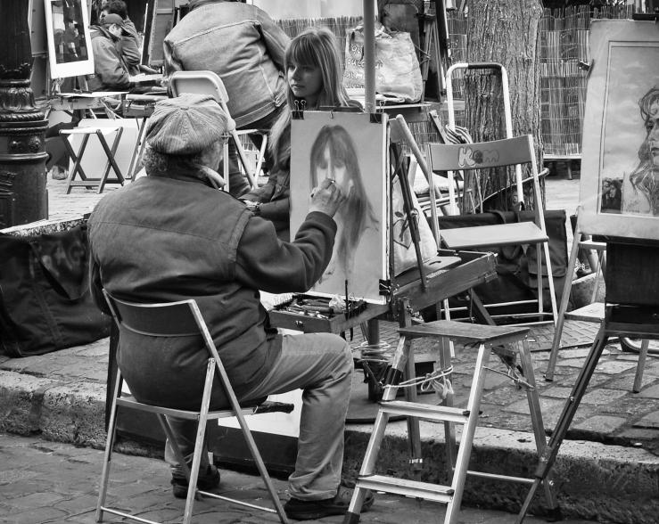 Porträtt Montmartre
