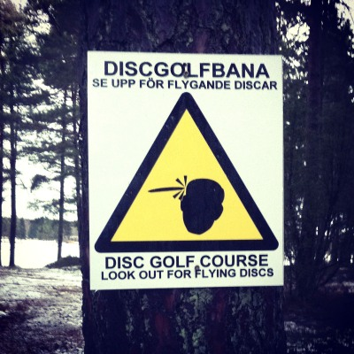 Se upp för flygande discar