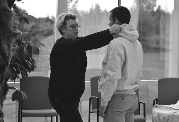 Elisabeth Ohlson Wallin fotograferar Stefan Holm