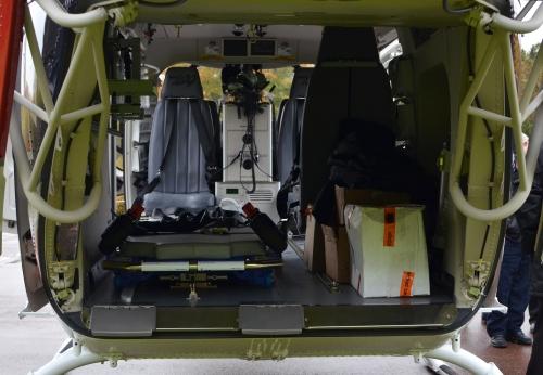 Helikopter Bell 429 insida