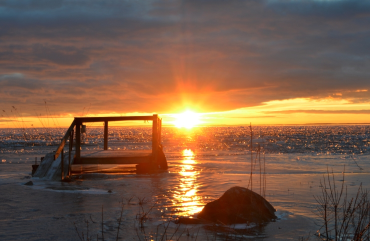 Solnedgång vid Hammarö Sydspets