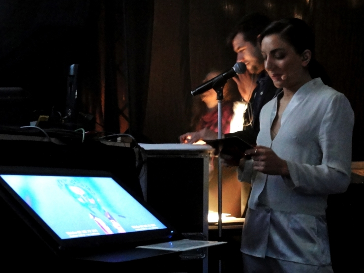 Gina Dirawi backstage Melodifestivalen 2013