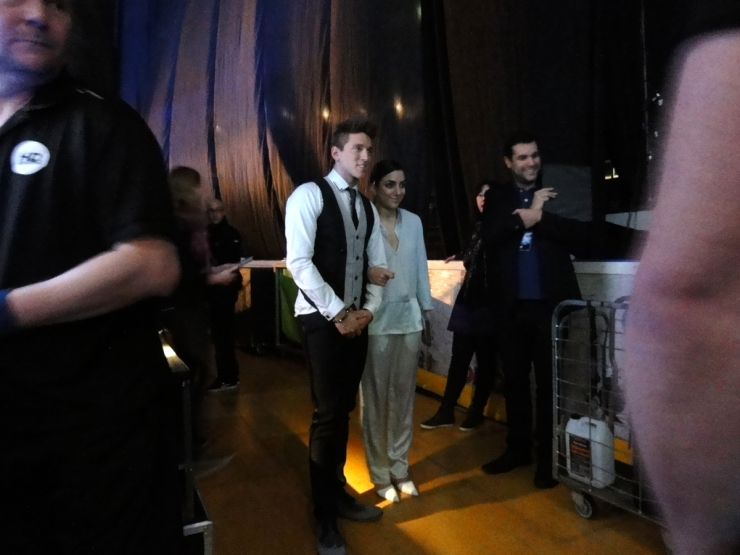 Programledarna Danny Saucedo och Gina Dirawi Melodifestivalen 2013