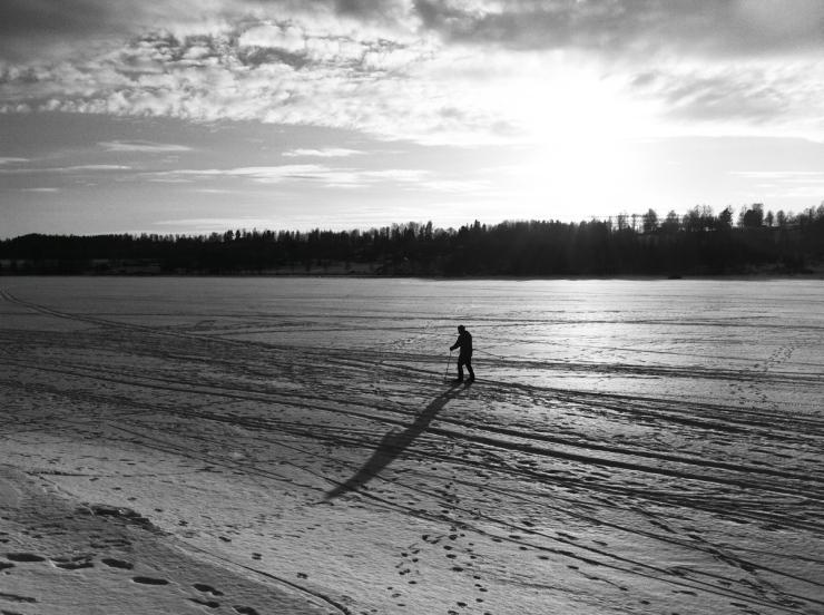 Den ensamma skidåkaren