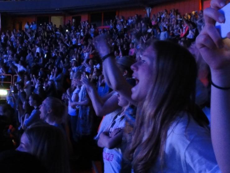 Belibers på konserten