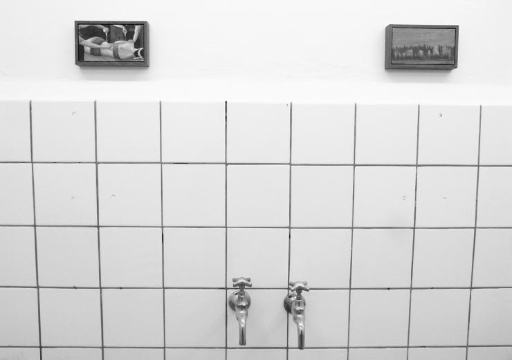 Konst i duschrummet