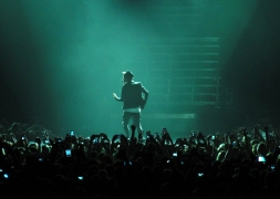 Justin Bieber in the stage light