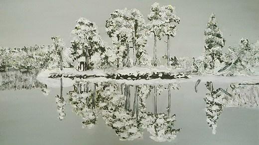 Förbannande vinter - målning av Torbjörn Hellberg