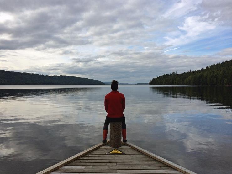 Med horisonten genom huvudet
