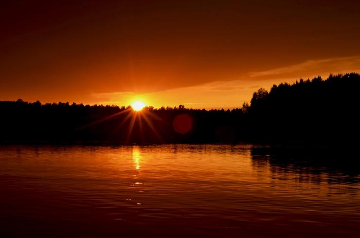 Solnedgång över Klarälven