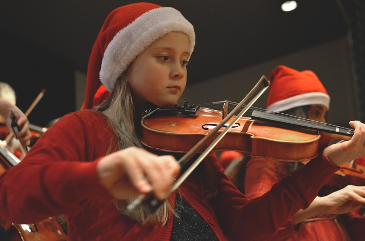 Kulturskolans Unga Stråkar - Julkonsert 2014