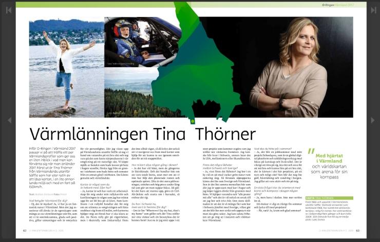 Intervju Tina Thörner - O-Ringentidningen