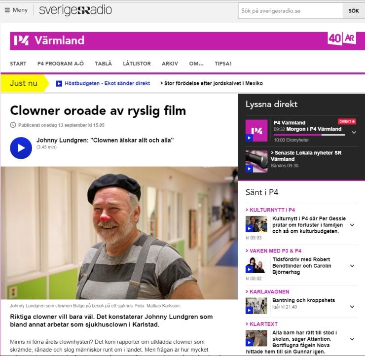 Sveriges Radio - Clownen Bulgo