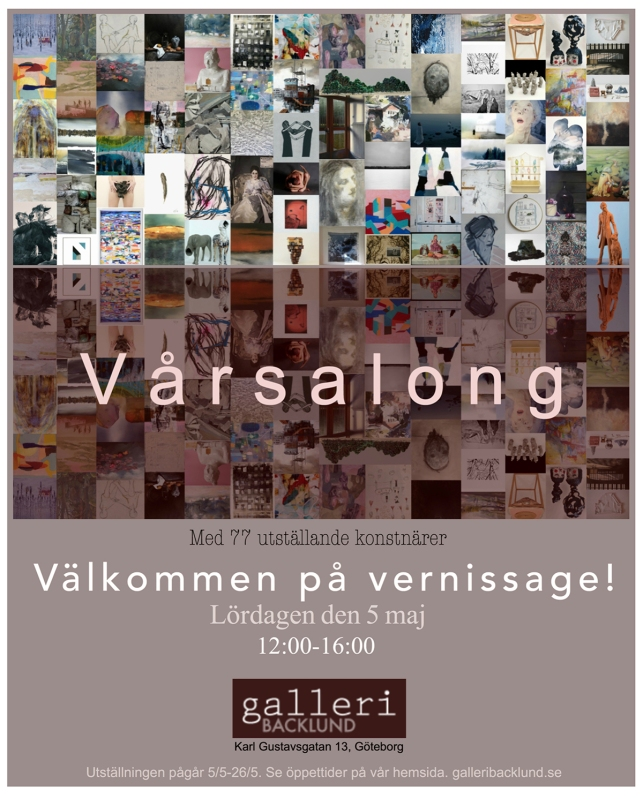 Vernissagekort Galleri Backlund