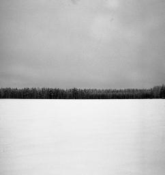 Vinterlandskap 3.000 kr 40x40 cm (oinramad) upplaga 15 ex. Fotograferad med bälgkamera Zeiss Ikonta med Kodak Tri-X 400 120 film.